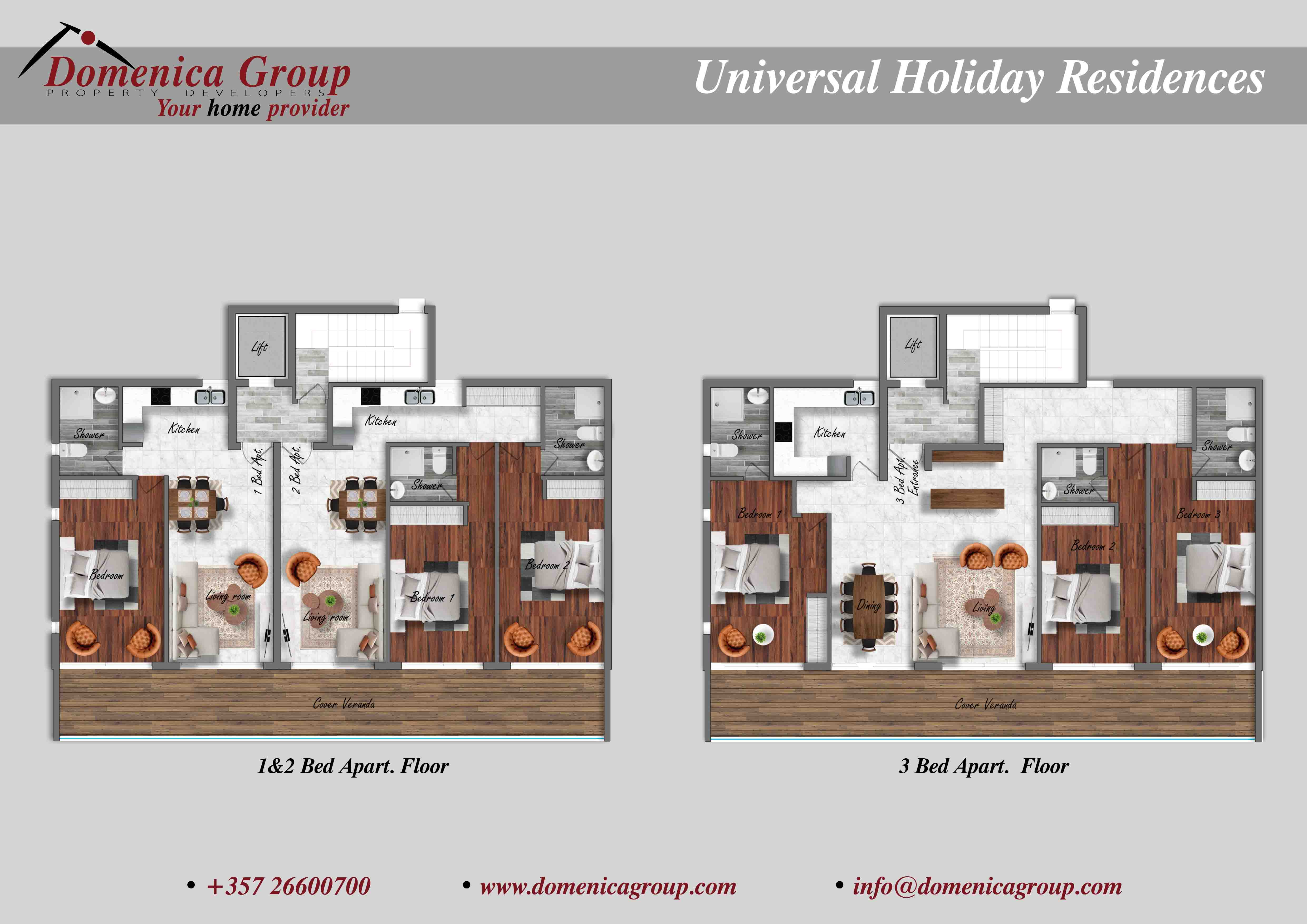 UNIVESAL HOLIDAY RESIDENCES 12 Bed Apt 3 Bed Apt low res
