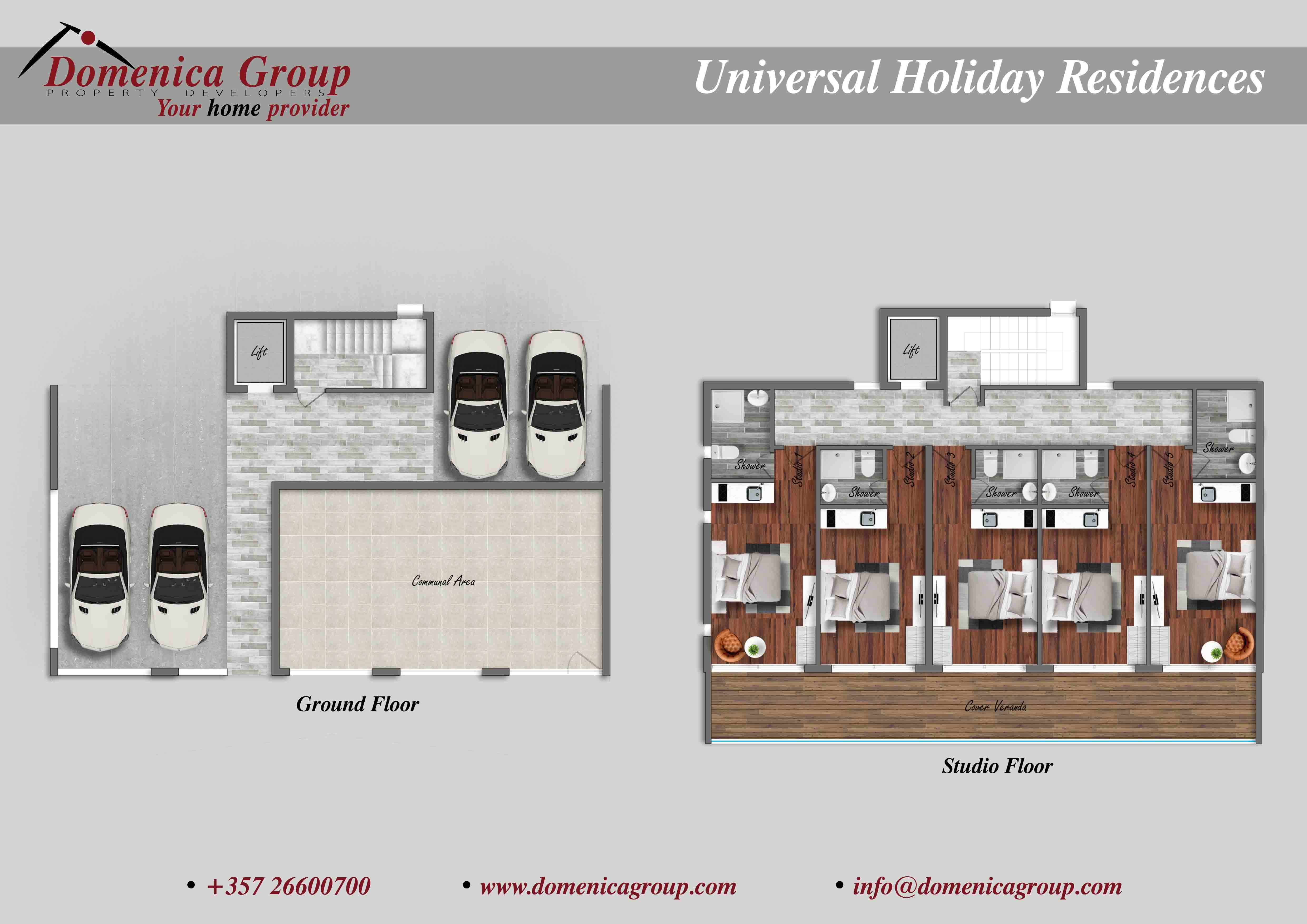 UNIVESAL HOLIDAY RESIDENCES Ground floor studio floor low res